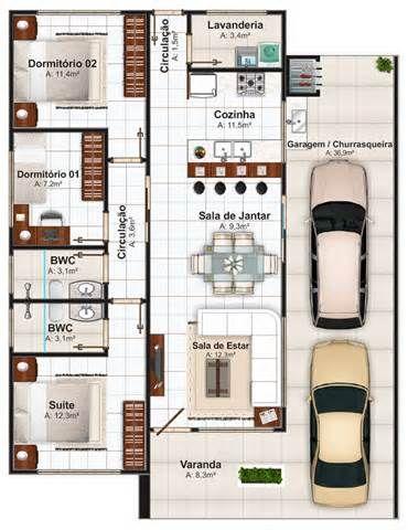 892ee90c8f53c 2 quantos, 1 banheiro, 1 suite, 1 sala de estar, 1 sala de jantar, 1 cozinha,  1 lavanderia, garagem e varanda