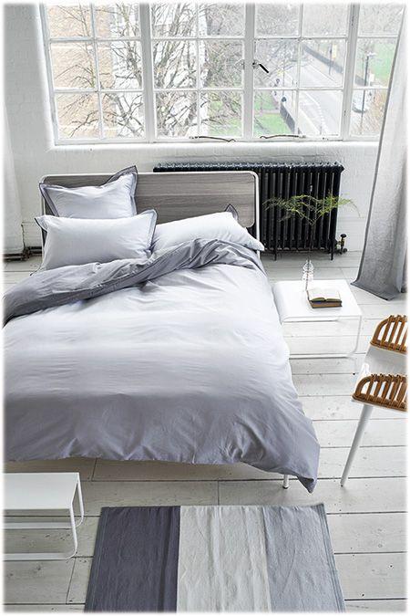 linge de lit me to you Saraille zinc By Designers Guild. Notre