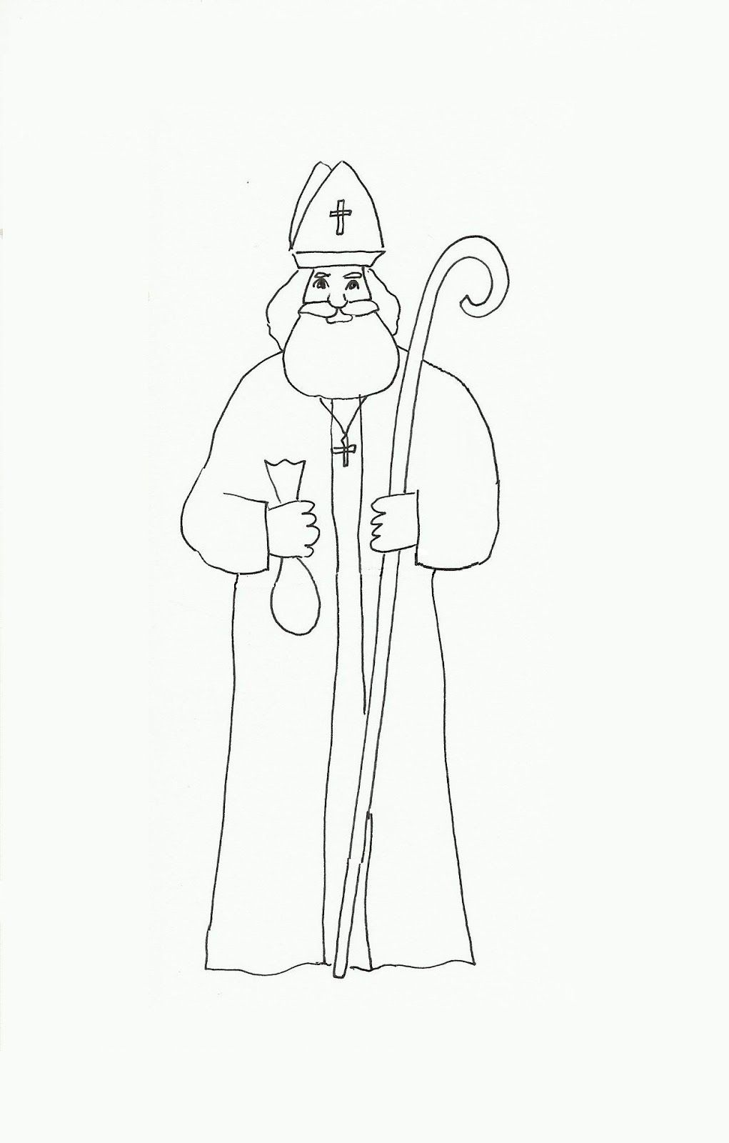 Coloring Page St Nicholas Img 16163 Bischof Nikolaus St
