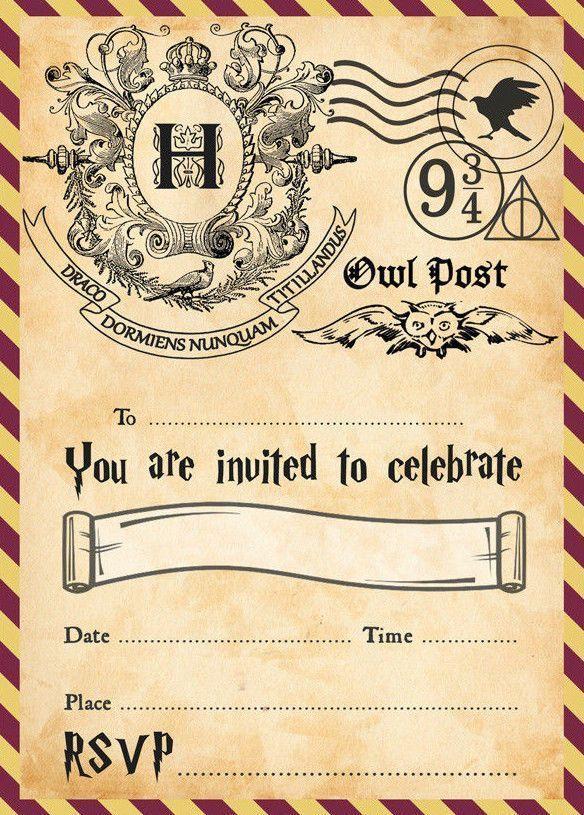 google | harry potter invitations, harry potter party