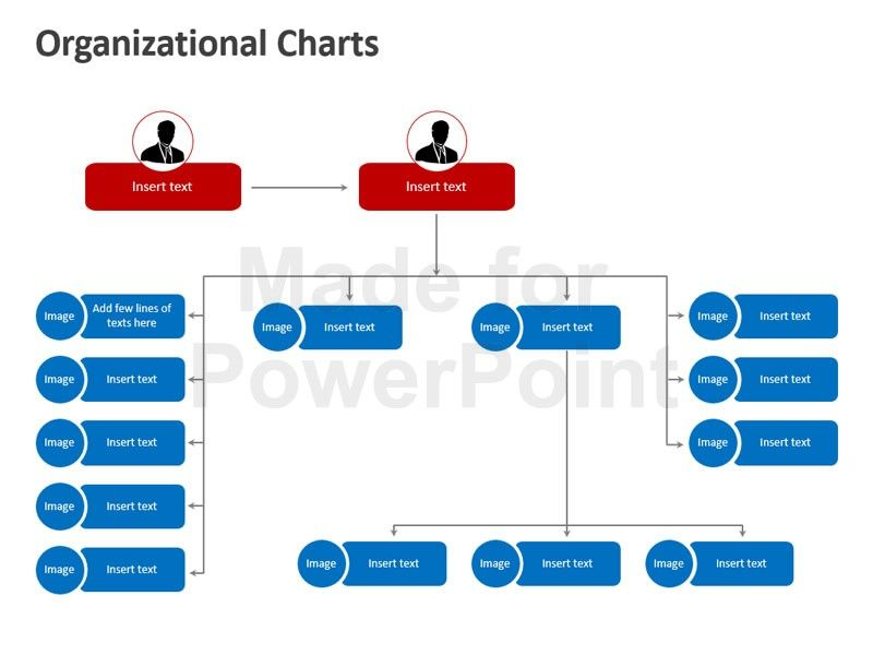 Download our easy-to-edit 12-slide deck featuring the Organization - horizontal organization chart template