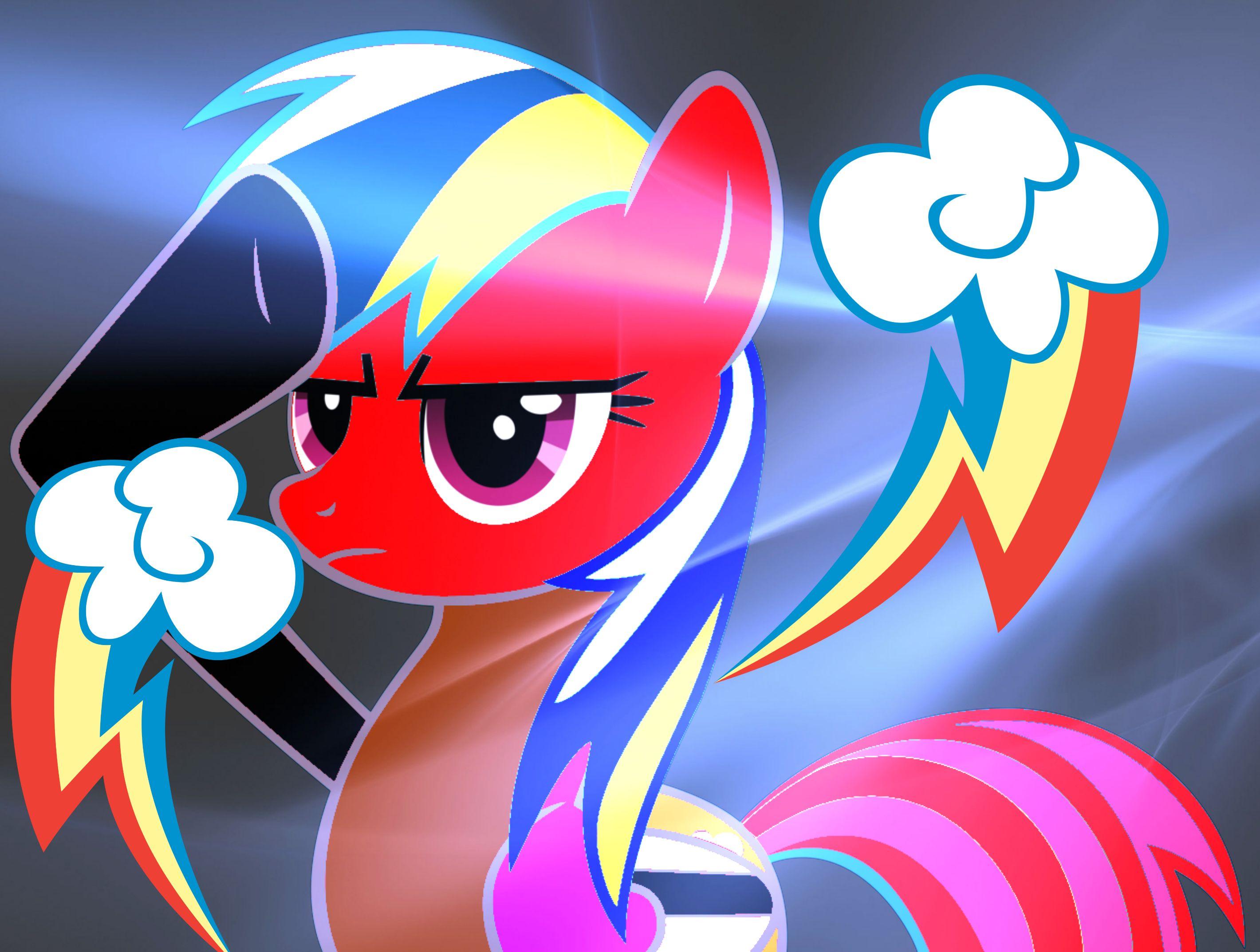 Cool Rainbow Dash Salutes Color Mix 6