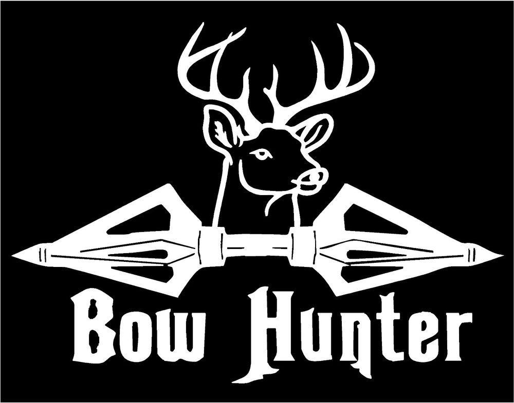 Bow Arrow Hunt Hunting Deer Whitetail Truck Car Window Vinyl Decal Sticker