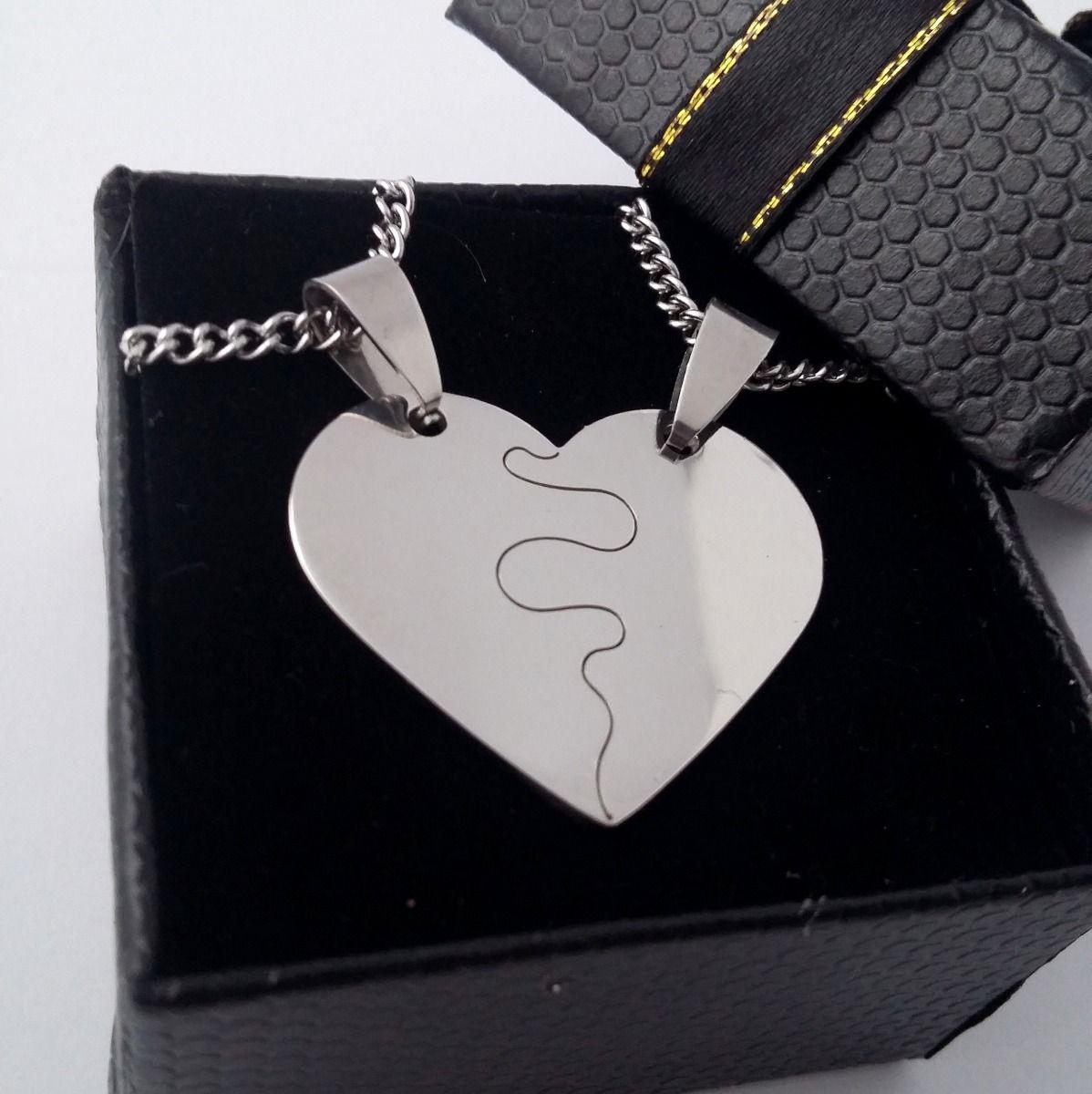 a588aae543e3 Dijes Corazon Amor Parejas Novios Media Medalla 63 Modelos - $ 150 ...
