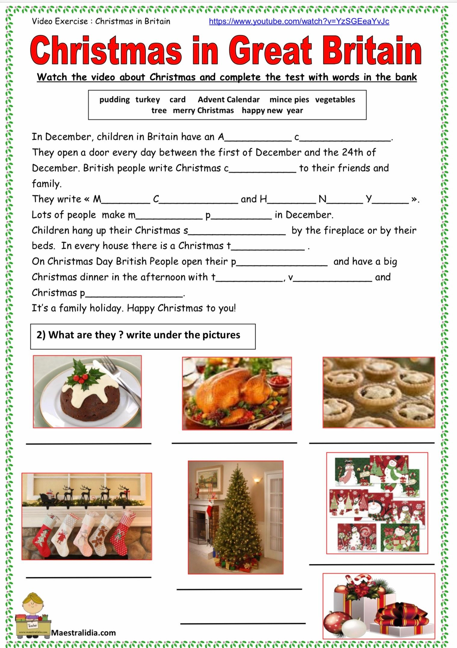How To Write A Christmas Card With Images Writing English