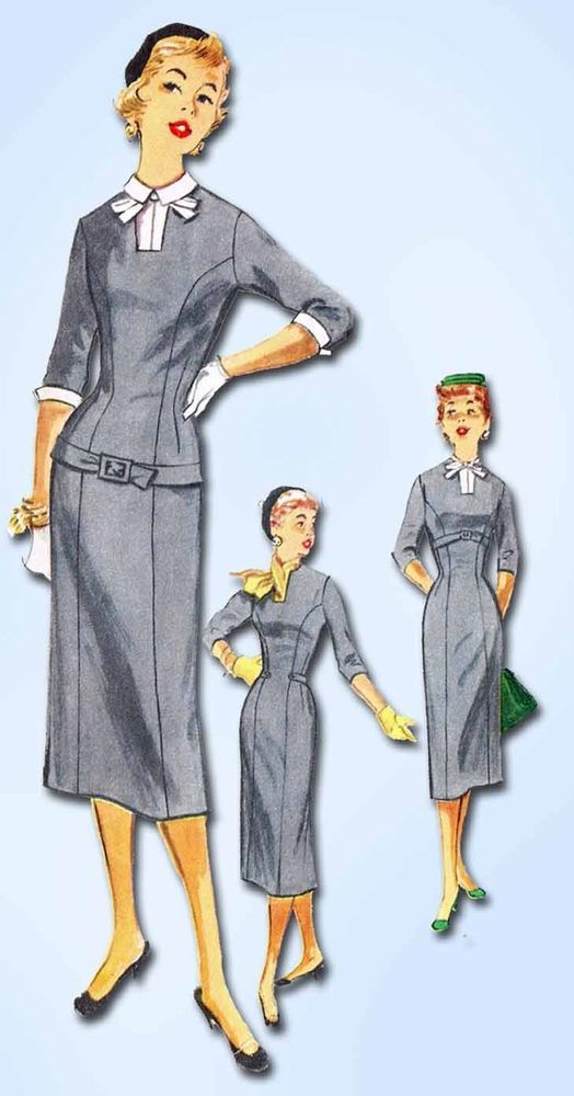 1950s Vintage Simplicity Sewing Pattern 1302 Misses Slender ...