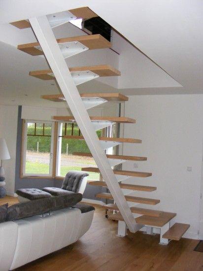 escalier quart tournant acier Escaliers Pinterest Staircases - avantage inconvenient maison ossature metallique