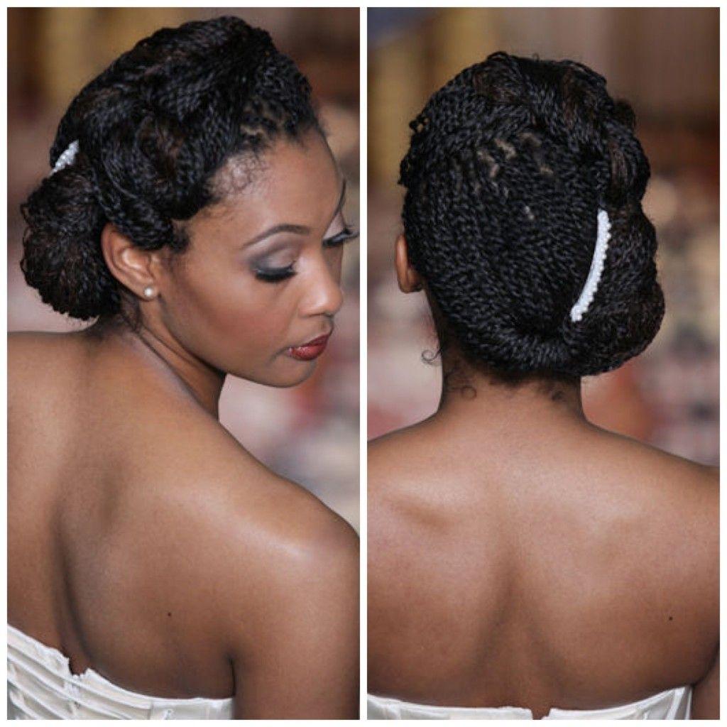 African american black bride wedding hair hairstyles braids