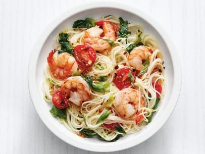 Angel hair pasta with shrimp and greens receta forumfinder Gallery