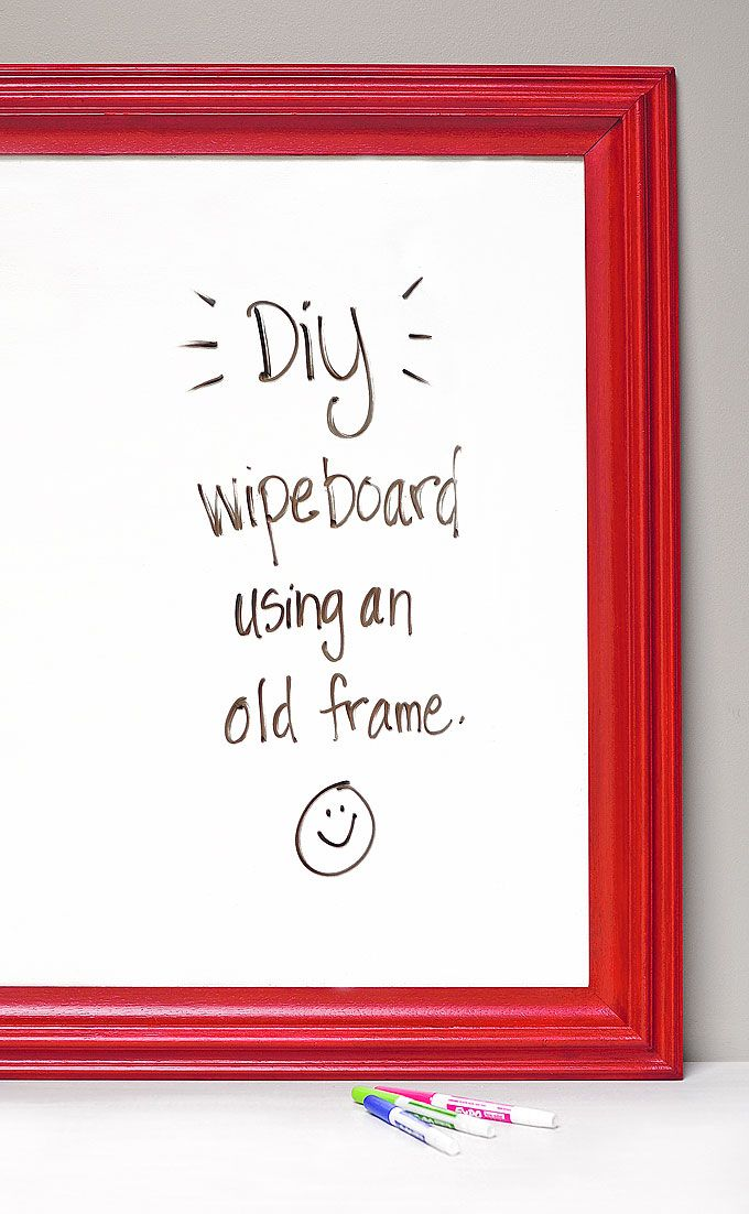 DIY Dry Erase Board or Wipe Board made with @glidden_paint ...