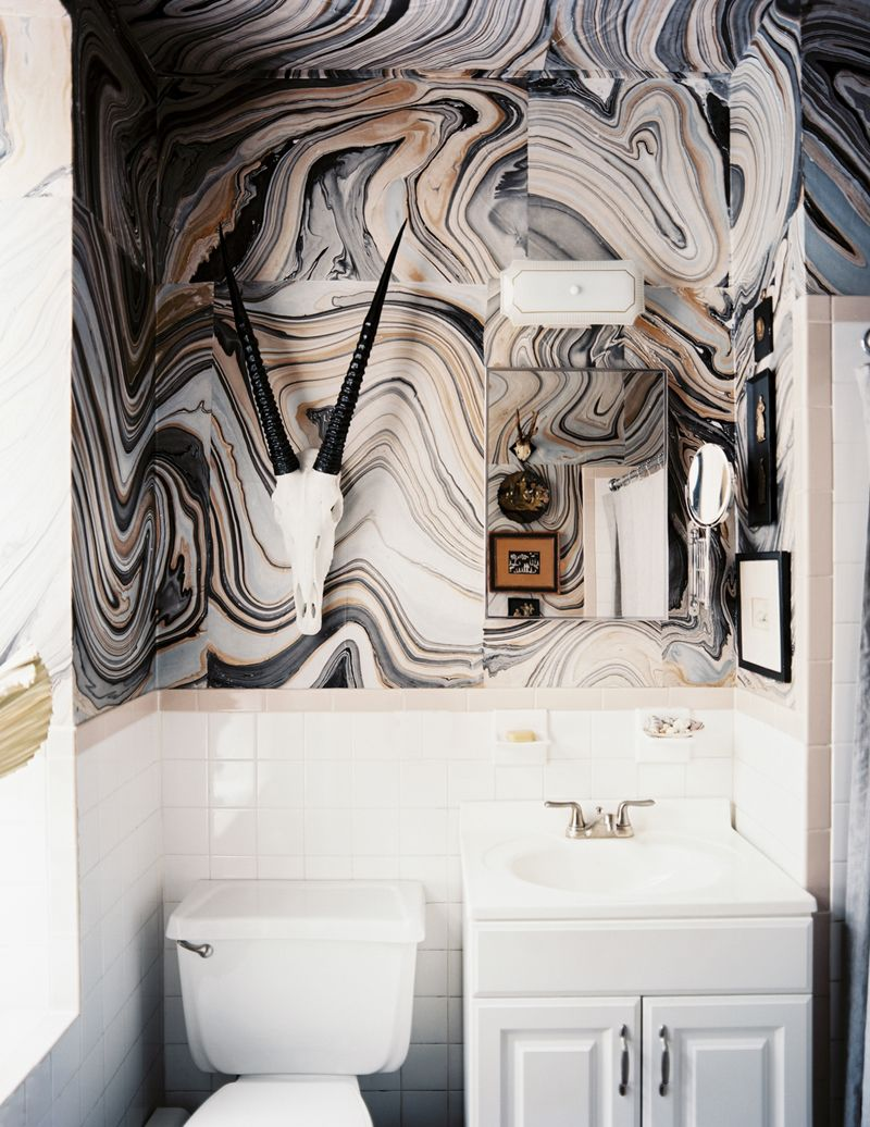 interiors globally influenced marbles wallpaper and walls