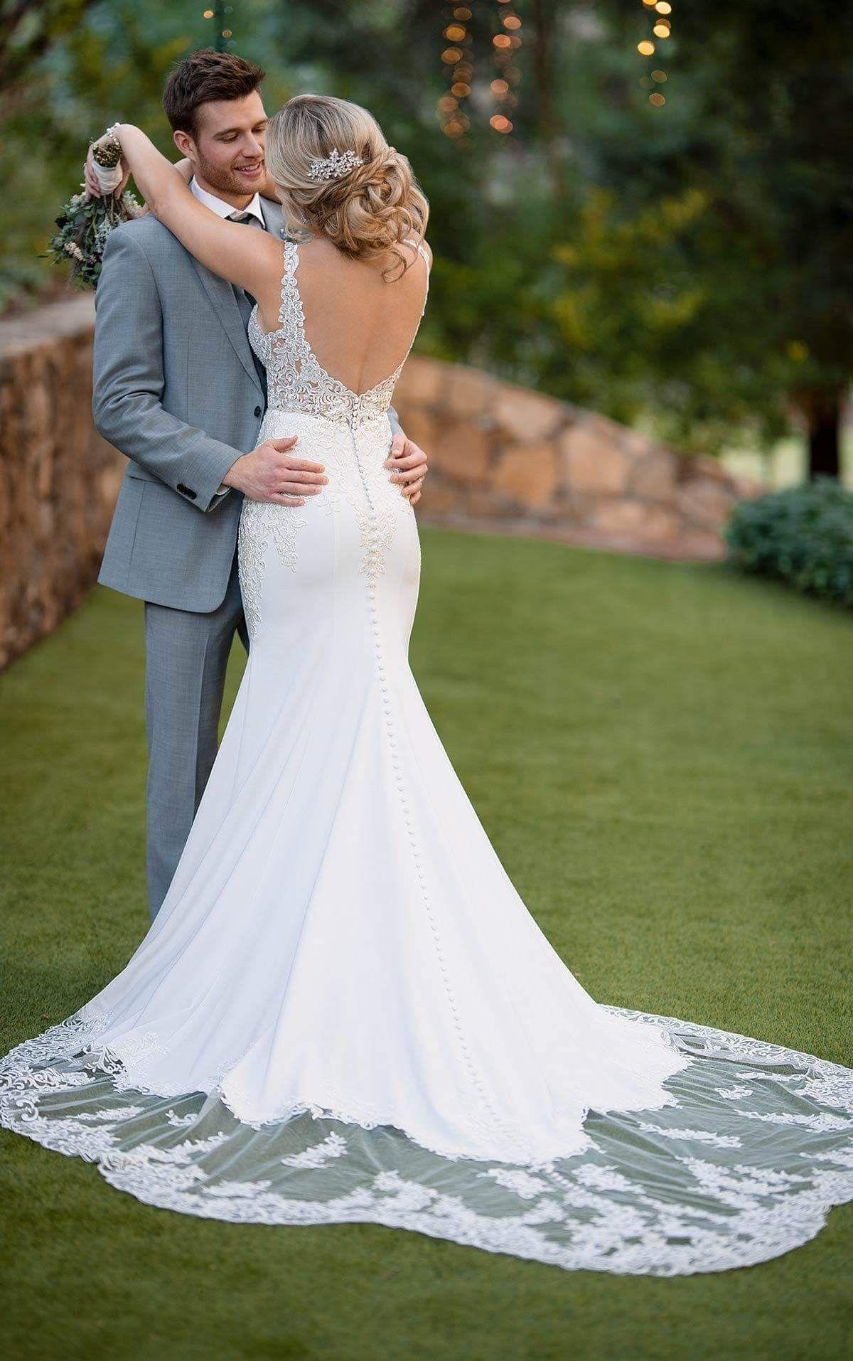 Essence of Australia Crepe wedding dress, Essense of