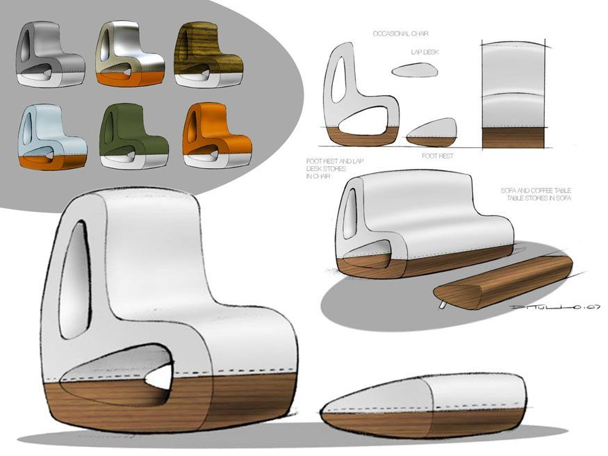 Industrial design chair sketch industrial design sketches for Furniture design sketches