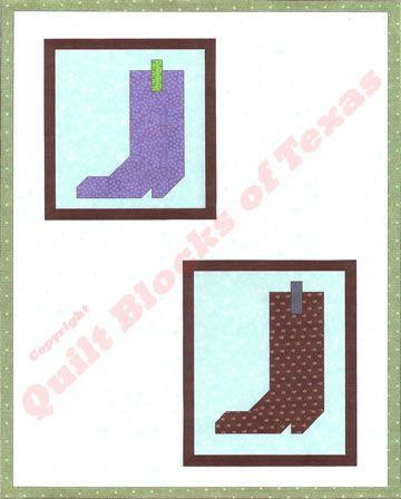 Cowboy Boots Quilt Pattern   Quilt Blocks of Texas   Quilting and ... : cowboy boots quilt pattern - Adamdwight.com