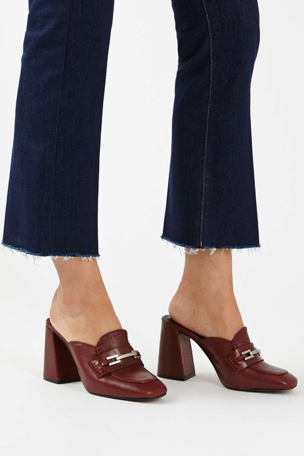 Topshop's heeled loafer-mules will elevate your workwear wardrobe this autumn. Get them while they're on sale!