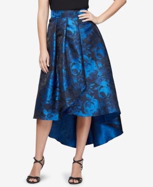 b8ece1dc2e Alex Evenings Printed High-Low Skirt - Blue XL