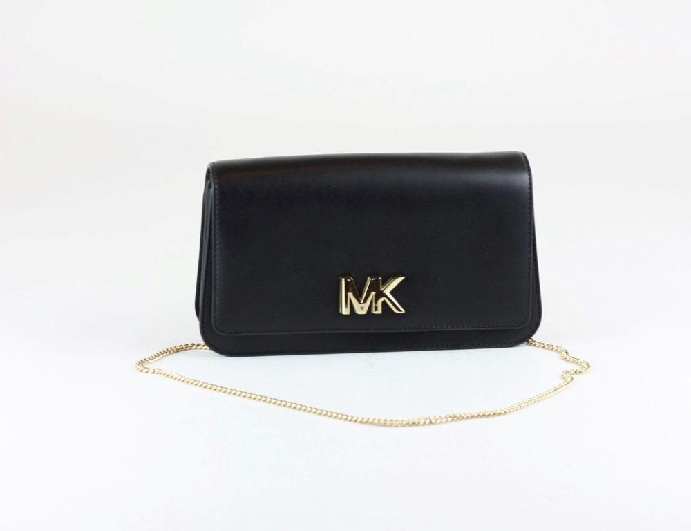 f6fd5b4cfb39 MICHAEL KORS Black Leather Mott Large Clutch Bag  MICHAELKORS  fashion   gift  style
