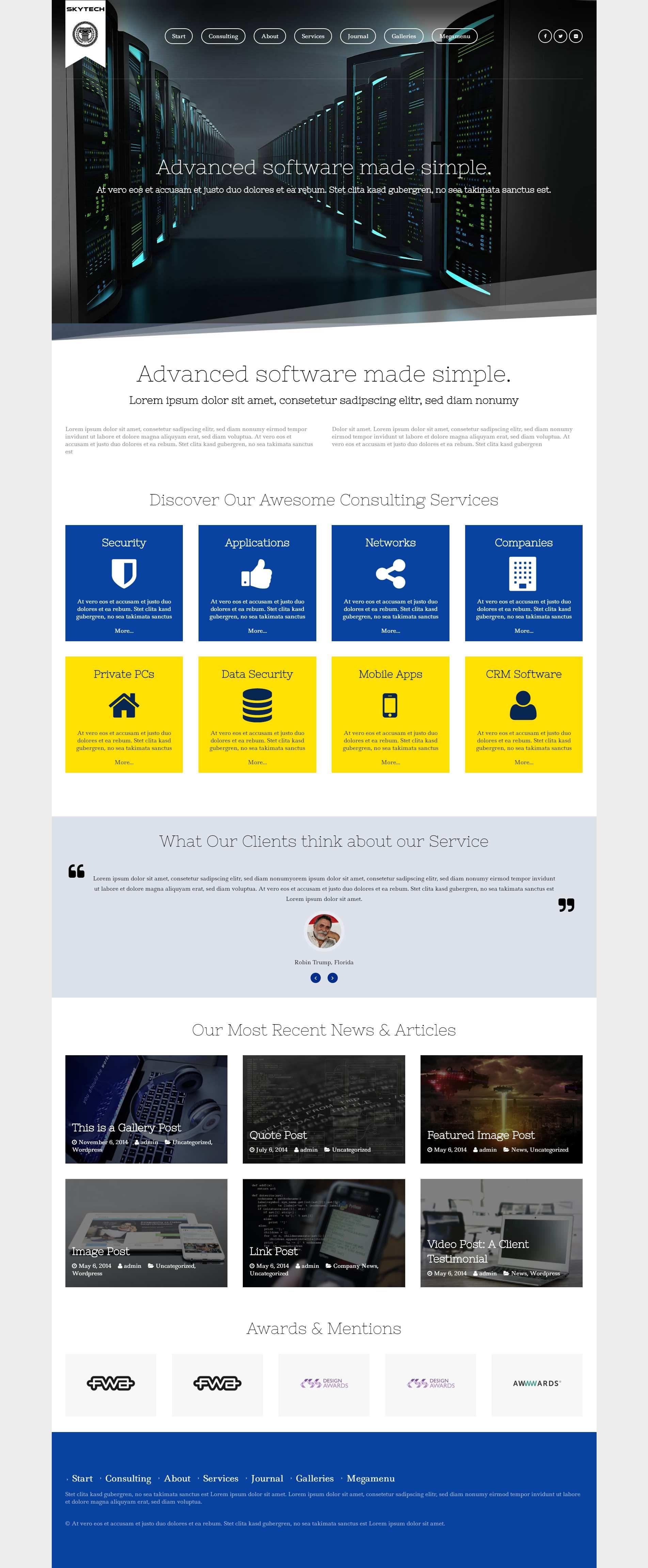 Skytech A Software Consulting Wordpress Theme Business Wordpress