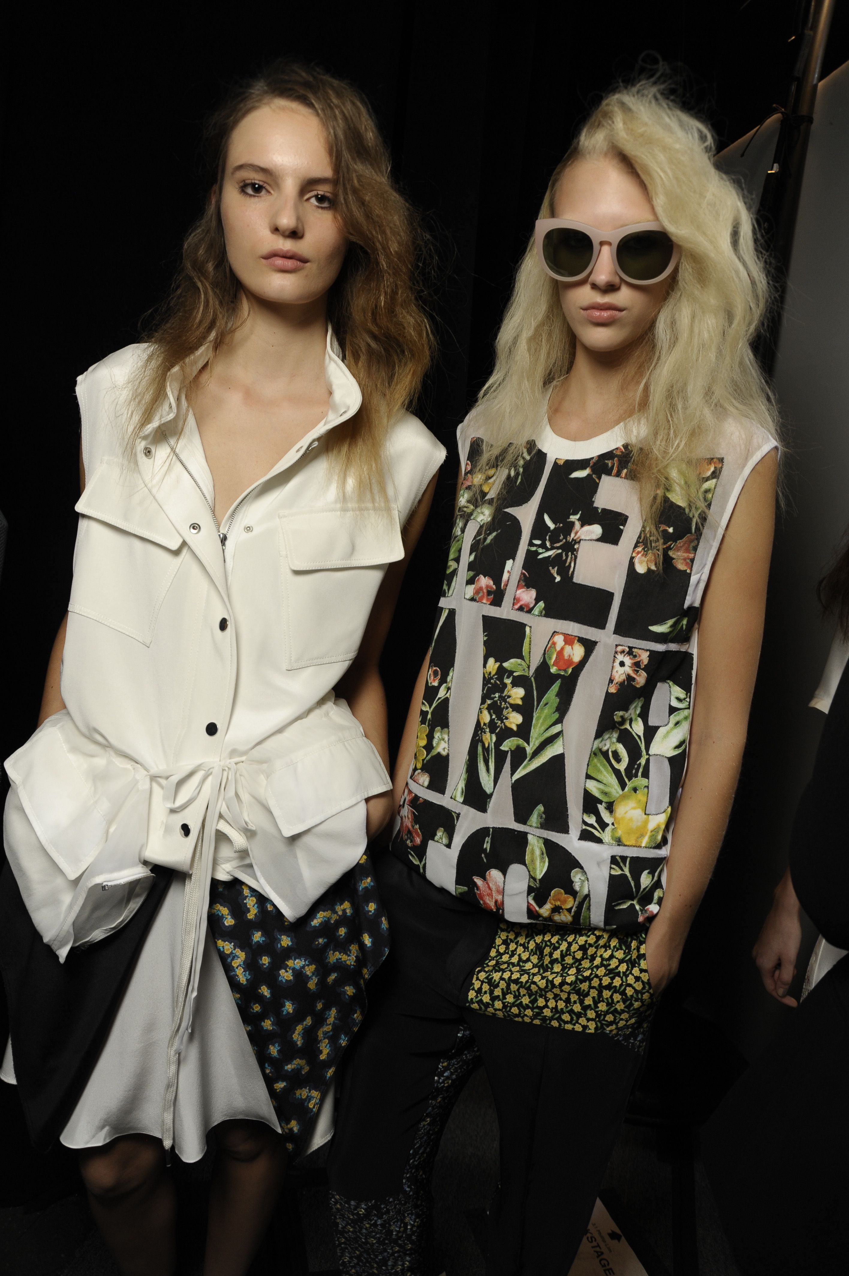 '90s-influenced style backstage at 3.1 Phillip Lim