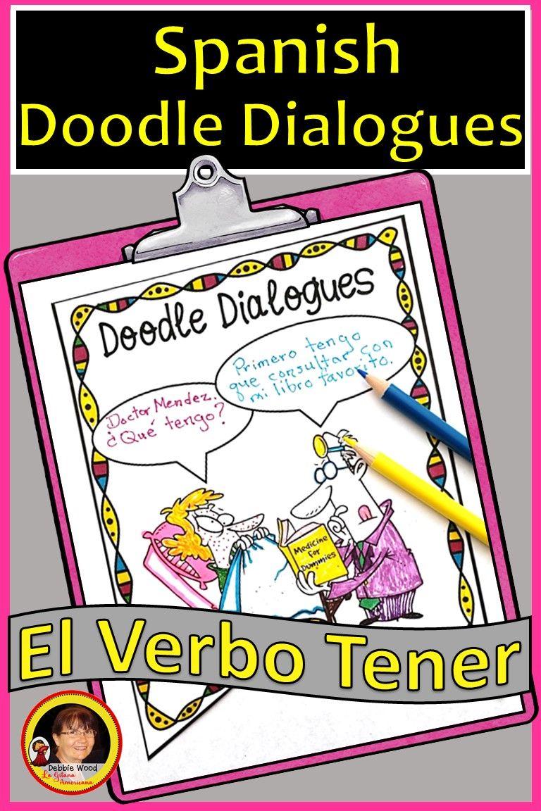 Tener Activities Tener Expressions Present Tense Verbs Homeschool Spanish Teaching Spanish