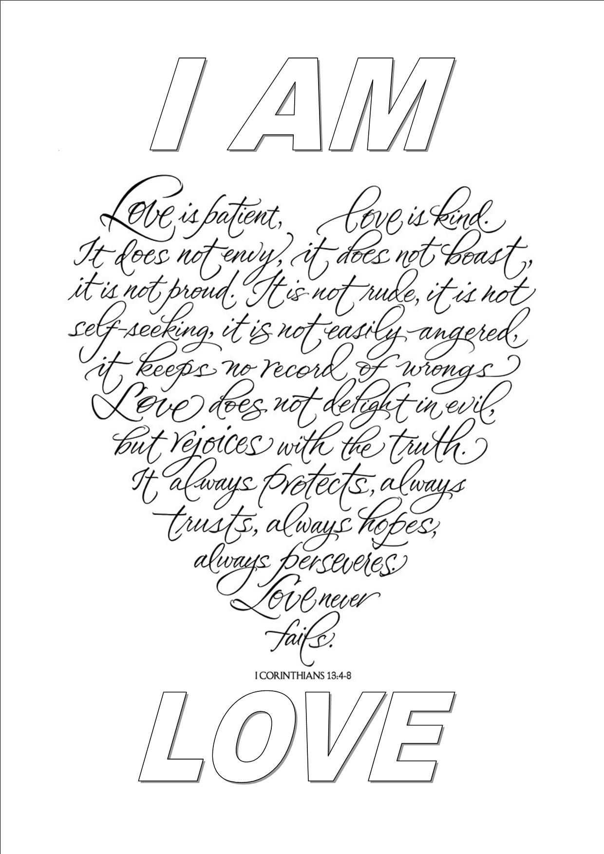 I Am Love Love Coloring Pages Swear Word Coloring Quote Coloring Pages