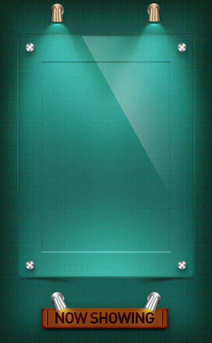 Poster design template psd - Acrylic Poster Frame Psd