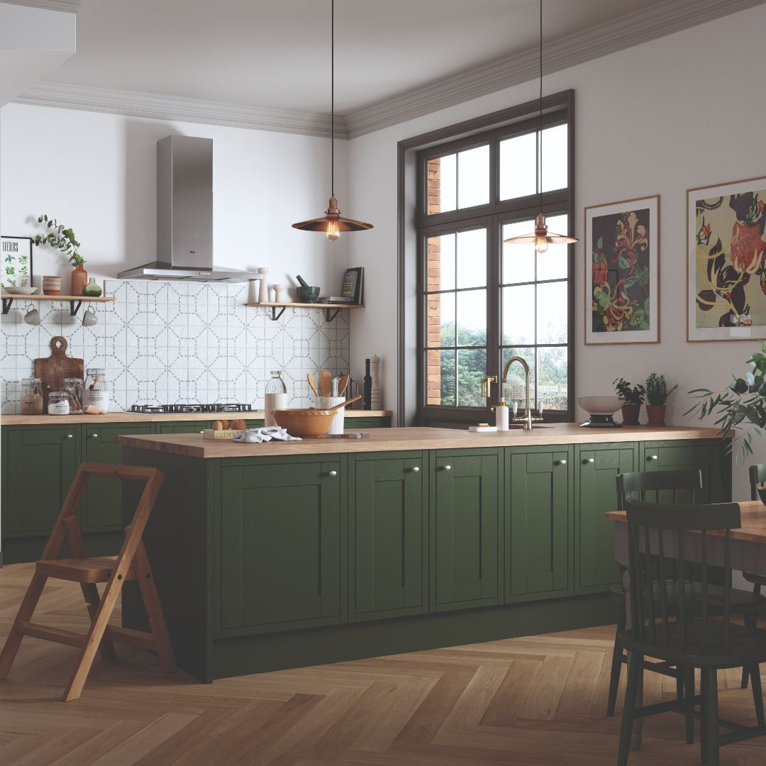 brand new for summer get lost in the rich jewel tones of our luxurious new somerton forest on kitchen interior green id=63385
