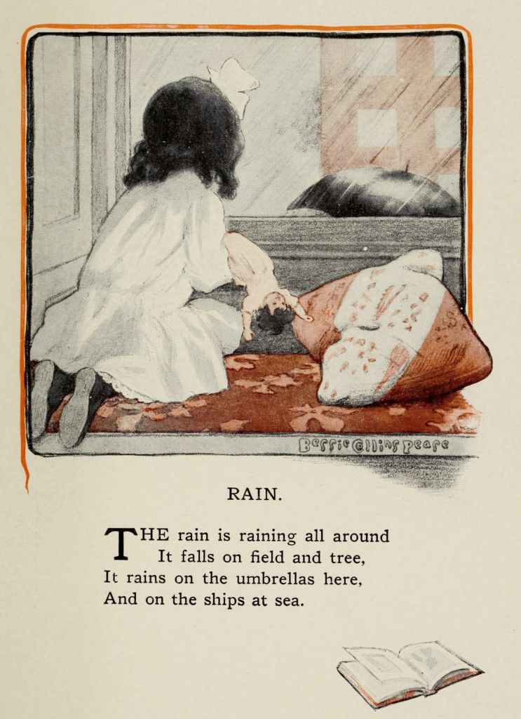 The Rain Illustration By Bessie Collins Pease From A Child S Garden Of Verses By Robert Louis