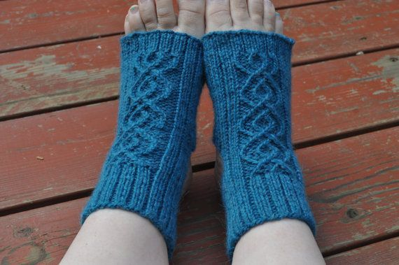 Yoga Socks Knitting Pattern Breathe Double Cable Yoga Socks