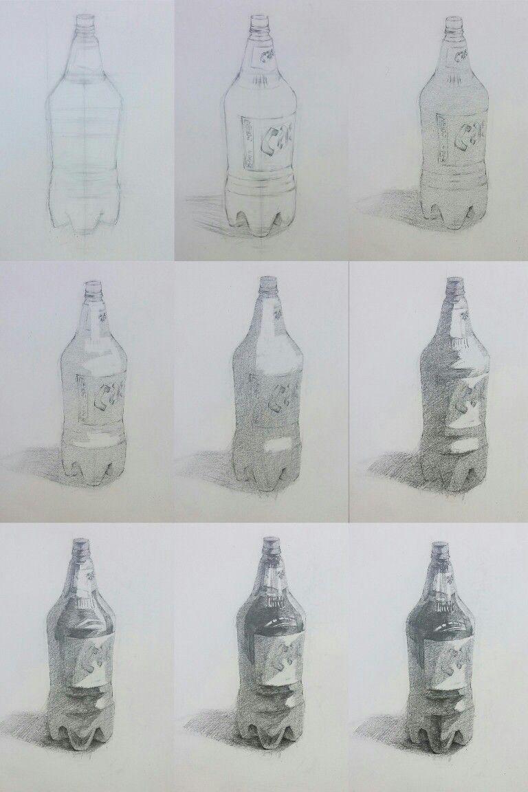 beer bottle pencil drawing