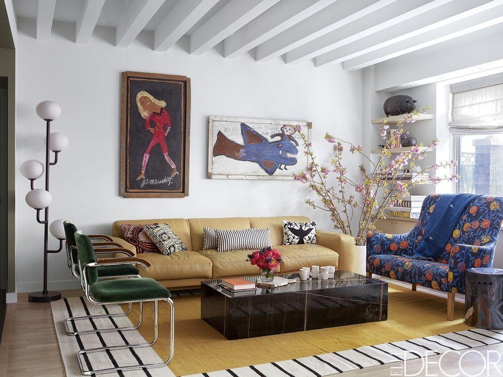 Our Favorite Cozy Living Rooms With Bold Design Choices Pinterest Home Decor Ideas Boho Room Decor Bohemian Living Room Decor Living room ideas elle decor
