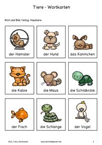 daz wort und aufgabenkarten tiere deutsch german language learn german und deutsch. Black Bedroom Furniture Sets. Home Design Ideas