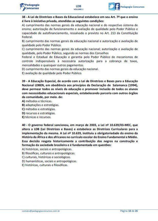 Material Digital Com 50 Questoes De Provas De Concursos Publicos