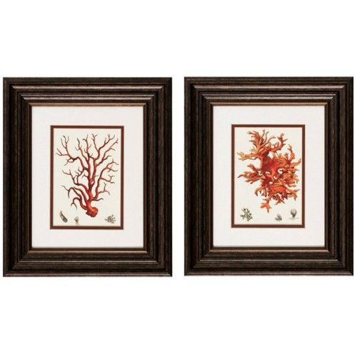 Red Coral Artwork $49.99 for the pair!