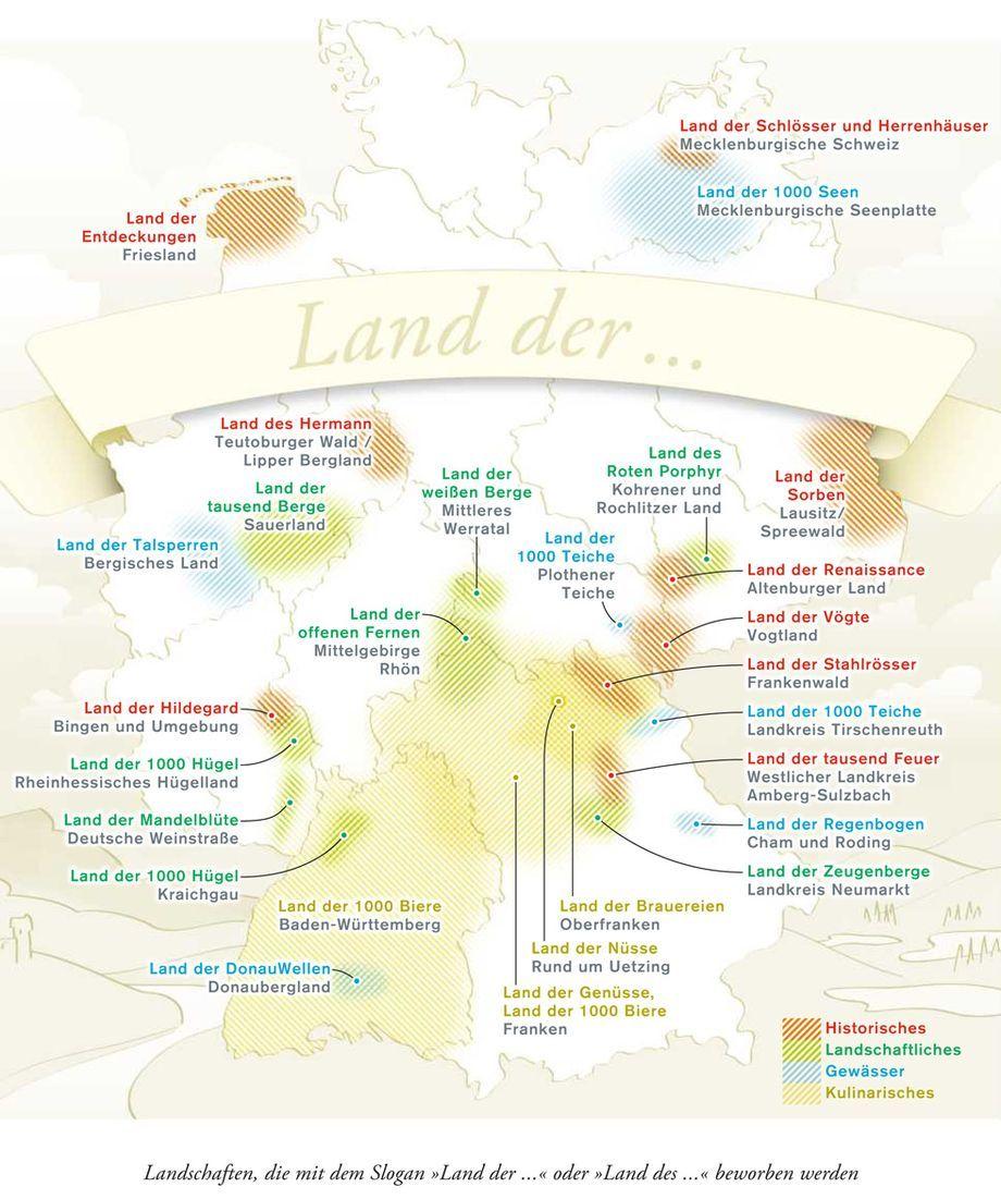 deutschlandkarte berge Deutschlandkarte: Im Land der 1.000 Genitive   Deutschlandkarte