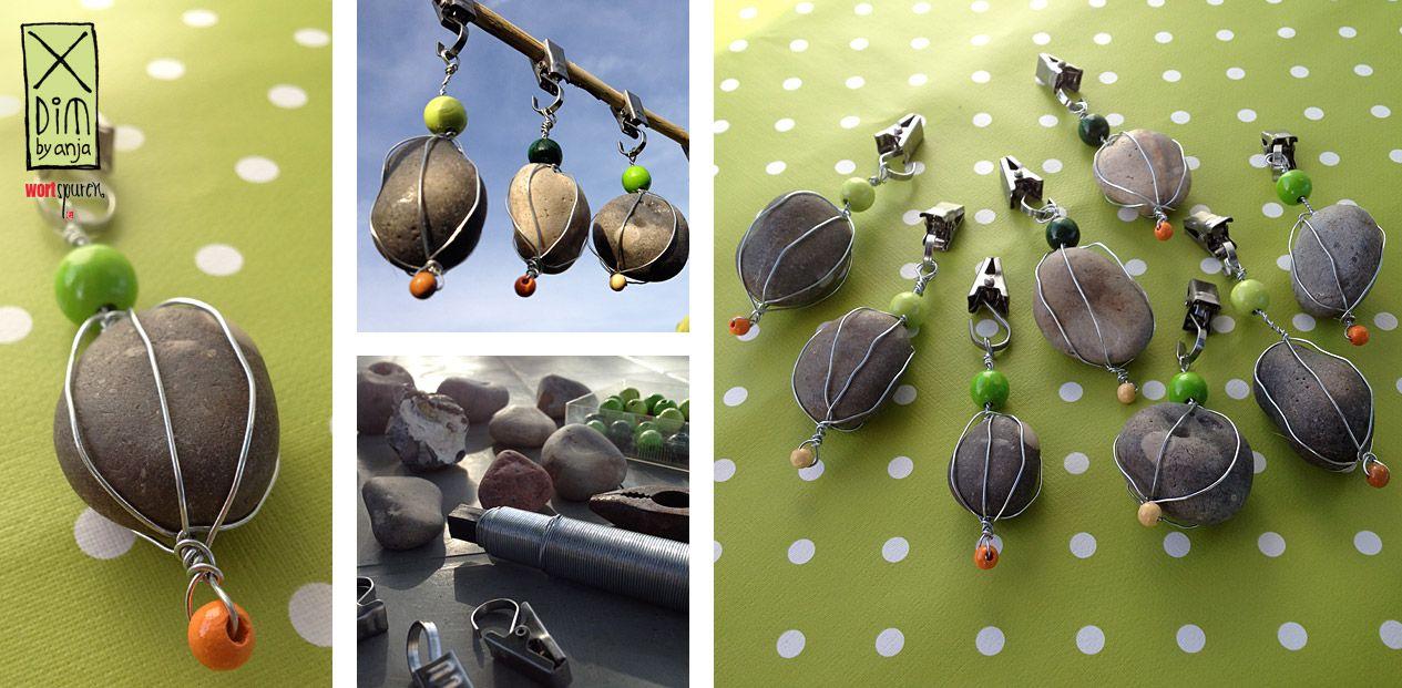Hängende Steine: Tischdeckenbeschwerer selbst gemacht. http ...