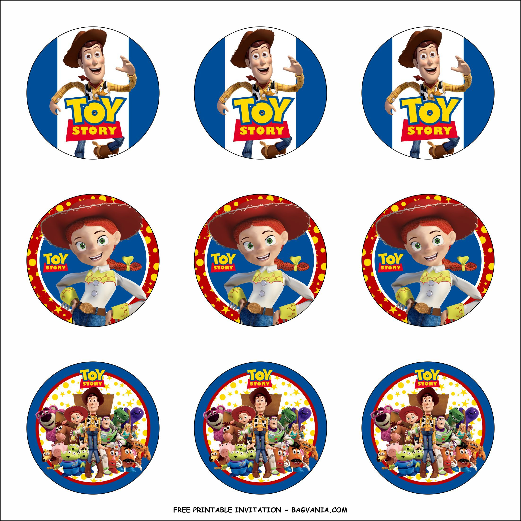 Nice Free Printable Toy Story Birthday Party Kits Template