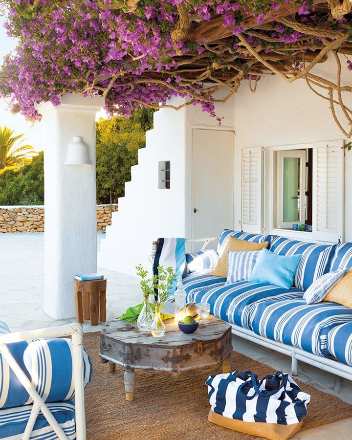 blue and white...   Beautiful Outdoor Places and Gardens   Pinterest ...