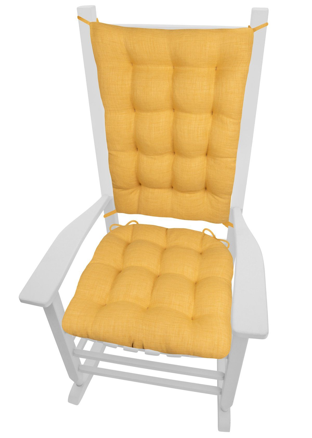 Terrific Rave Yellow Gold Porch Rocker Cushions Latex Foam Fill Home Interior And Landscaping Dextoversignezvosmurscom