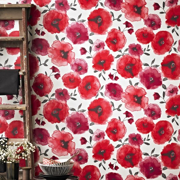 Poppy Wallpaper Home Interior 10 Awesome Wallpapers  Poppy Red Floral Wallpapers And Wallpaper