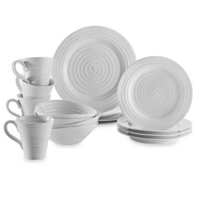 Sophie Conran For Portmeirion 16 Piece Dinnerware Set In White Bed Bath Beyond Dinnerware Dinnerware Set Dinnerware Sets