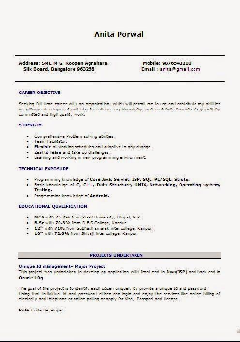 examples of job resumes Sample Template Example ofExcellent ...