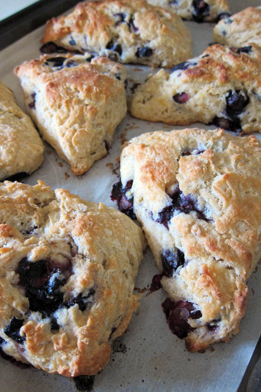 Blueberry lemon spelt scones recipe with images