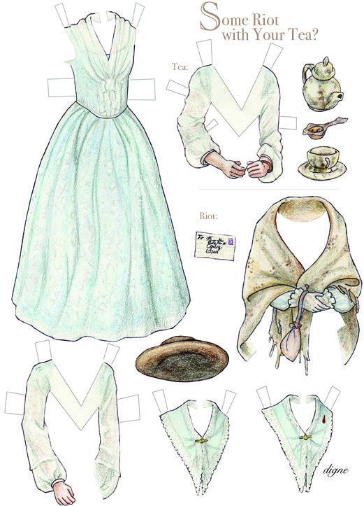 Margaret Hale Paper Dolls
