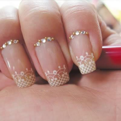 Best Wedding Lace Nail Art Design Photos