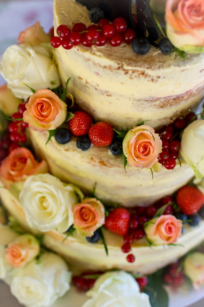 Frau Zuckerfee Hochzeitstorte Selber Machen Anleitung Naked Cake