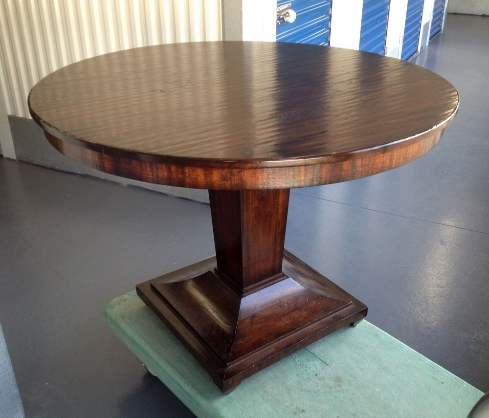 42 Round Pedestal Dining Table From