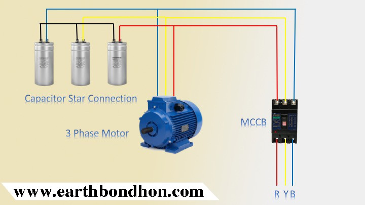 3 Phase Motor Capacitor Star Delta Connection Earth Bondhon Delta Connection Capacitor Delta