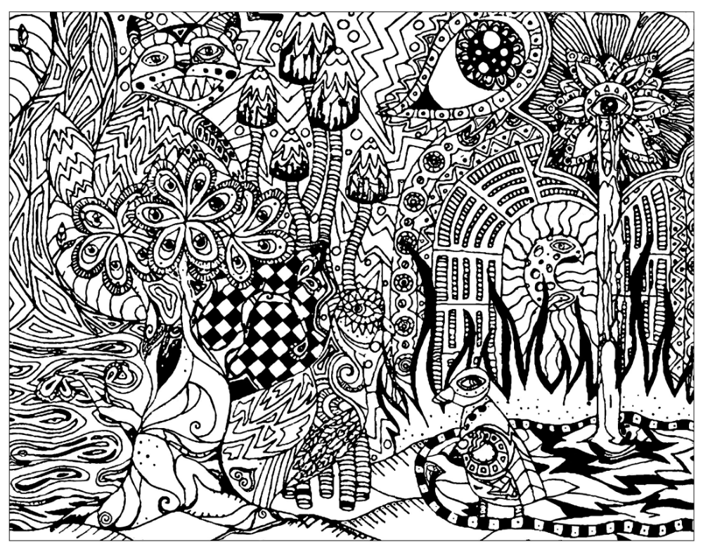 Hippie Coloring Pages Gallery - Whitesbelfast | 787x1000