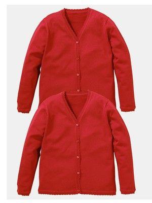 b614a6f920aa Top Class Girls School Uniform Cotton Rich Cardigans (2 Pack), http:/